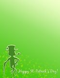 Happy St. Patrick S Day! Stationary Or Poster! Royalty Free Stock Photo