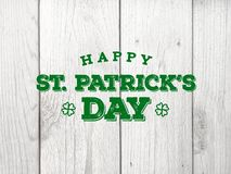 Free Happy St. Patrick`s Day Text Over Wood Royalty Free Stock Photography - 136627817