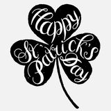 Happy St. Patrick s Day Vector. St. Patrick s Day greeting. Vector illustration.Happy St. Patrick s Day Vector.Isolated vector clover. Good Luck Unique Hand Stock Photography