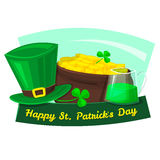 Happy St. Patrick's Day vector illustration Royalty Free Stock Images