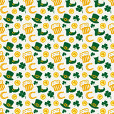 Happy St. Patrick's Day! Vector seamless pattern. Royalty Free Stock Images