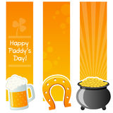 Happy St. Patrick`s Day Vertical Banners Stock Photos