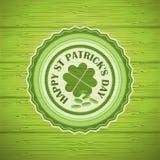 Happy St. Patrick's Day Vintage Vector label Stock Photo
