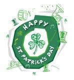 Happy St. Patrick's Logo Theme. Day Editable Clip Art. Royalty Free Stock Photo