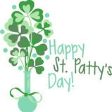 Happy St. Patricks Clover Stock Photos