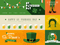 Happy St Patricks day banner illustration Stock Images
