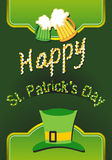 Happy St Patricks day card with beer Stock Images