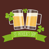 Happy St Patricks day card Stock Images