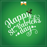 Happy St Patrick's Day cheerful text design Stock Photo
