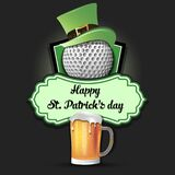 Happy St. Patricks day and golf ball