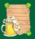 Happy St. Patricks Day greeting banners. Happy St Patricks day card with beer and lucky clover Royalty Free Stock Images