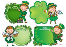 Happy St. Patricks Day greeting banners Stock Images