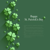 Happy St. Patricks Day - greeting card Stock Images