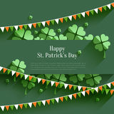 Happy St. Patricks Day - greeting card Royalty Free Stock Image