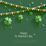 Happy St. Patricks Day - greeting card Stock Photo