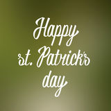 Happy st. Patricks day hand lettering Royalty Free Stock Photography