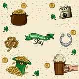 Happy st patricks day. Icon vector illustration graphic design Royalty Free Stock Photos