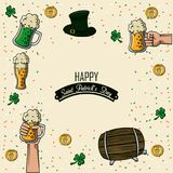 Happy st patricks day. Icon vector illustration graphic design Stock Images