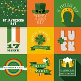 Happy St Patricks day label illustration Stock Photography