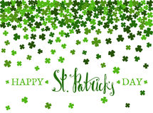 Happy St. Patricks day lettering. royalty free illustration