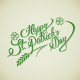 Happy St. Patricks Day lettering Greeting Card Royalty Free Stock Photography