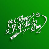 Happy St. Patricks Day lettering Greeting Card Stock Photo