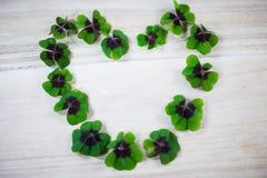 Happy st patricks day, luck clover Stock Photos