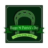 Happy St Patricks Day Lucky Horseshoe Stock Image