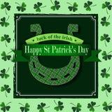 Happy St Patricks Day Lucky Horseshoe Stock Photos