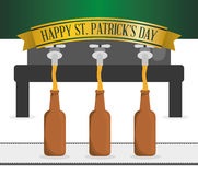 Happy st patricks day pouring beer graphic Royalty Free Stock Images