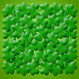 Happy St Patricks Day Shamrock Leaves Background Royalty Free Stock Image