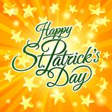Happy St Patricks Day Star Sign Background. A Happy St Patricks Day stars background sign Royalty Free Stock Photos