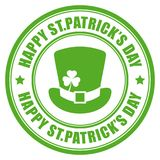 Happy St Patrick`s Day vector round label Royalty Free Stock Photography
