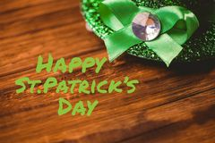 Happy st patricks day. On wooden background Stock Image