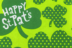 Happy st. pats patricks day shamrock Stock Photo