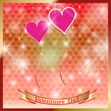 Happy St. Valentines Day. Valentina Deco Stars the Classic the Lightning the Darling the Romance Red Love Heart royalty free illustration