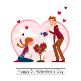 Happy St. Valentines Day Stock Photography