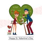 Happy St. Valentines Day Royalty Free Stock Photos