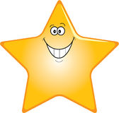 Happy star. Smiling cartoon star Royalty Free Stock Photo