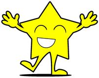 Happy star cartoon  Stock Images