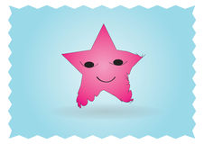 Happy star character. In framed background Stock Photography