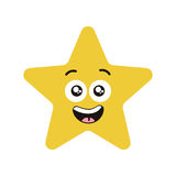 Happy star character Royalty Free Stock Photography