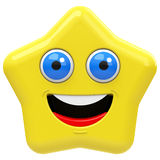 The happy star Royalty Free Stock Photos