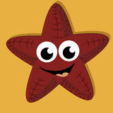 Happy starfish Stock Image