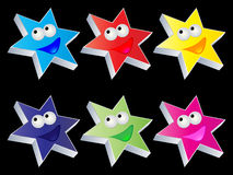Happy stars buttons Stock Image