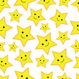 Happy stars seamless pattern Stock Images