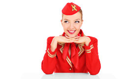Happy stewardess Royalty Free Stock Photo