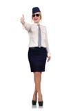 Happy stewardess Stock Photos