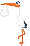 Happy Stork with baby Stock Photos