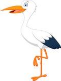 Happy stork cartoon Royalty Free Stock Photo